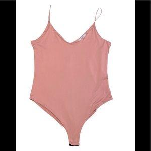 Gaze Blush pink spaghetti strap bodysuit